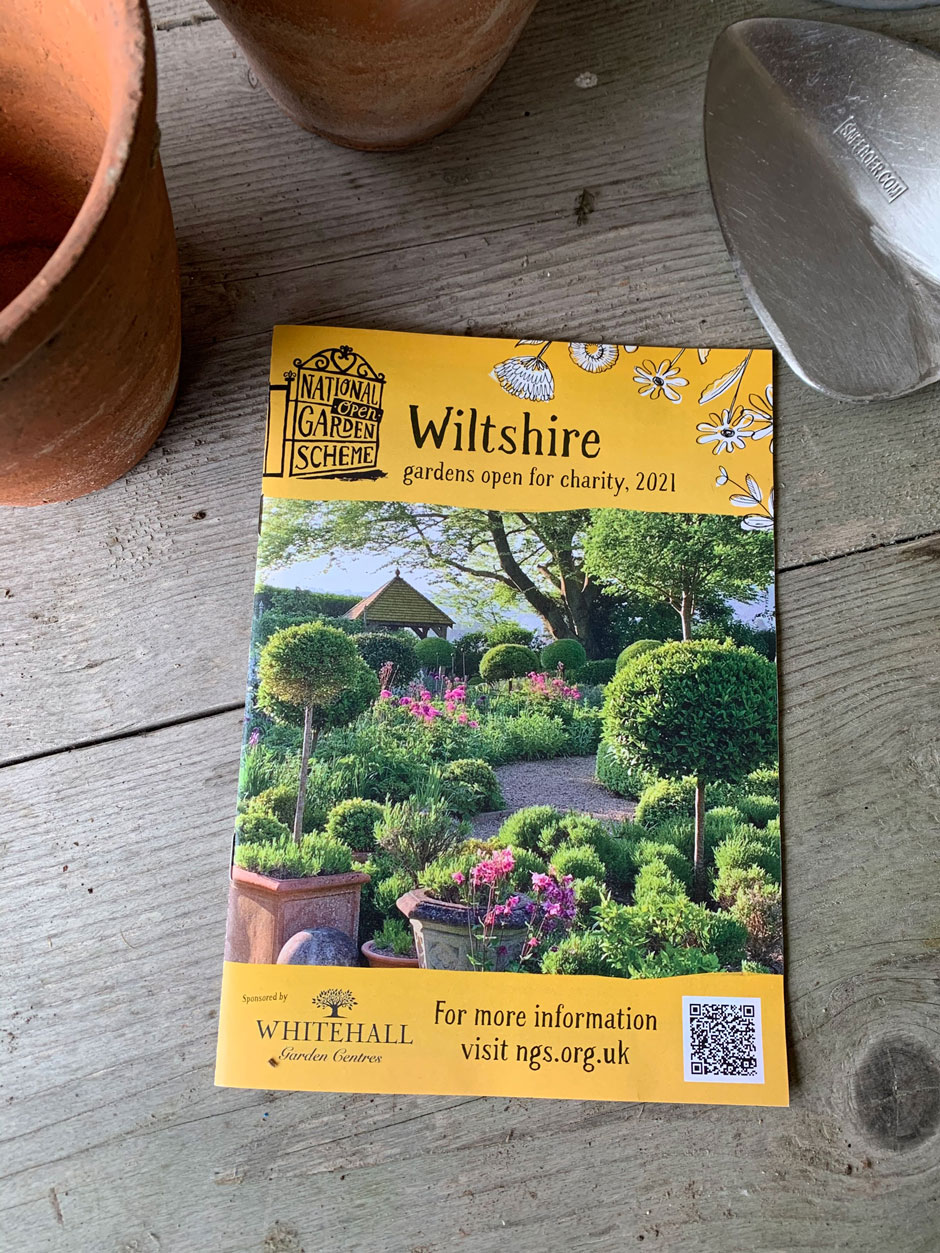 National Garden Scheme Wiltshire County Booklet 2021 - Front Cover