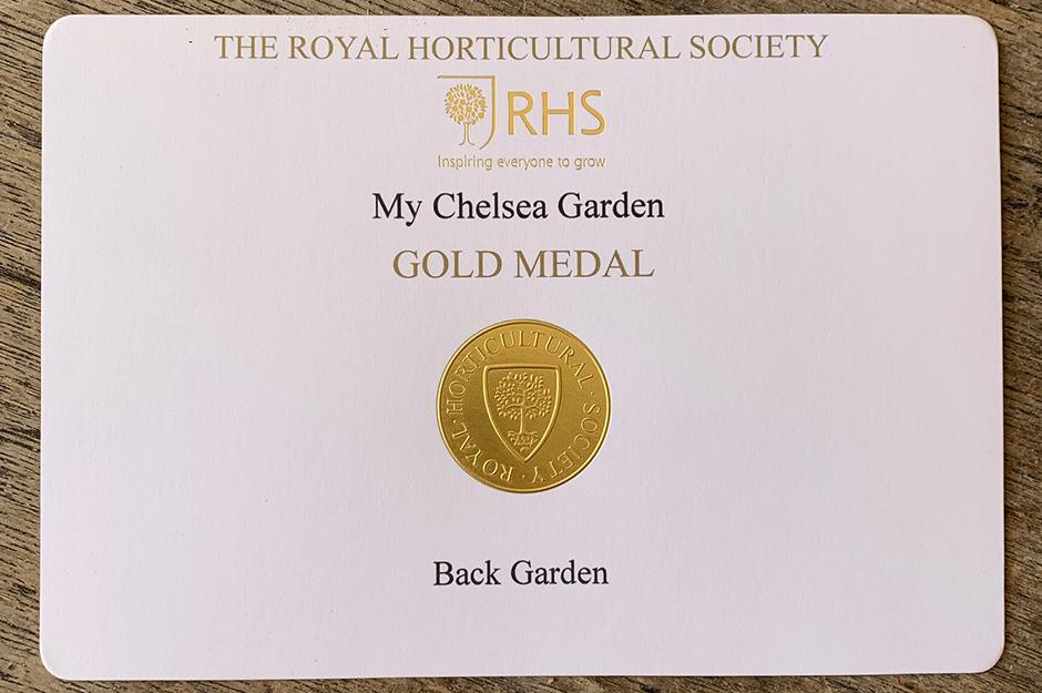 RHS My Chelsea Garden GOLD MEDAL (Back Garden)