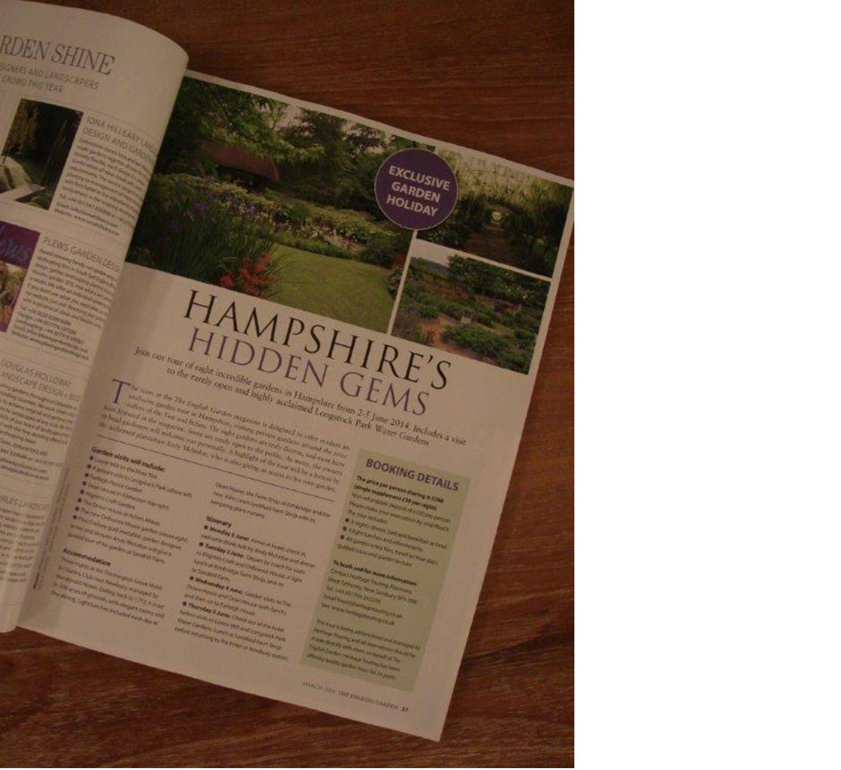 The English Garden - 'Hampshire's Hidden Gems'. March 2014 issue