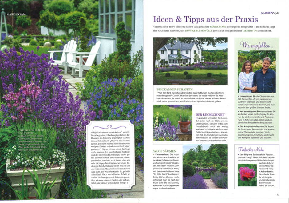 'Garden Style' in Germany (Summer 2014) - Front cover and 10 page feature