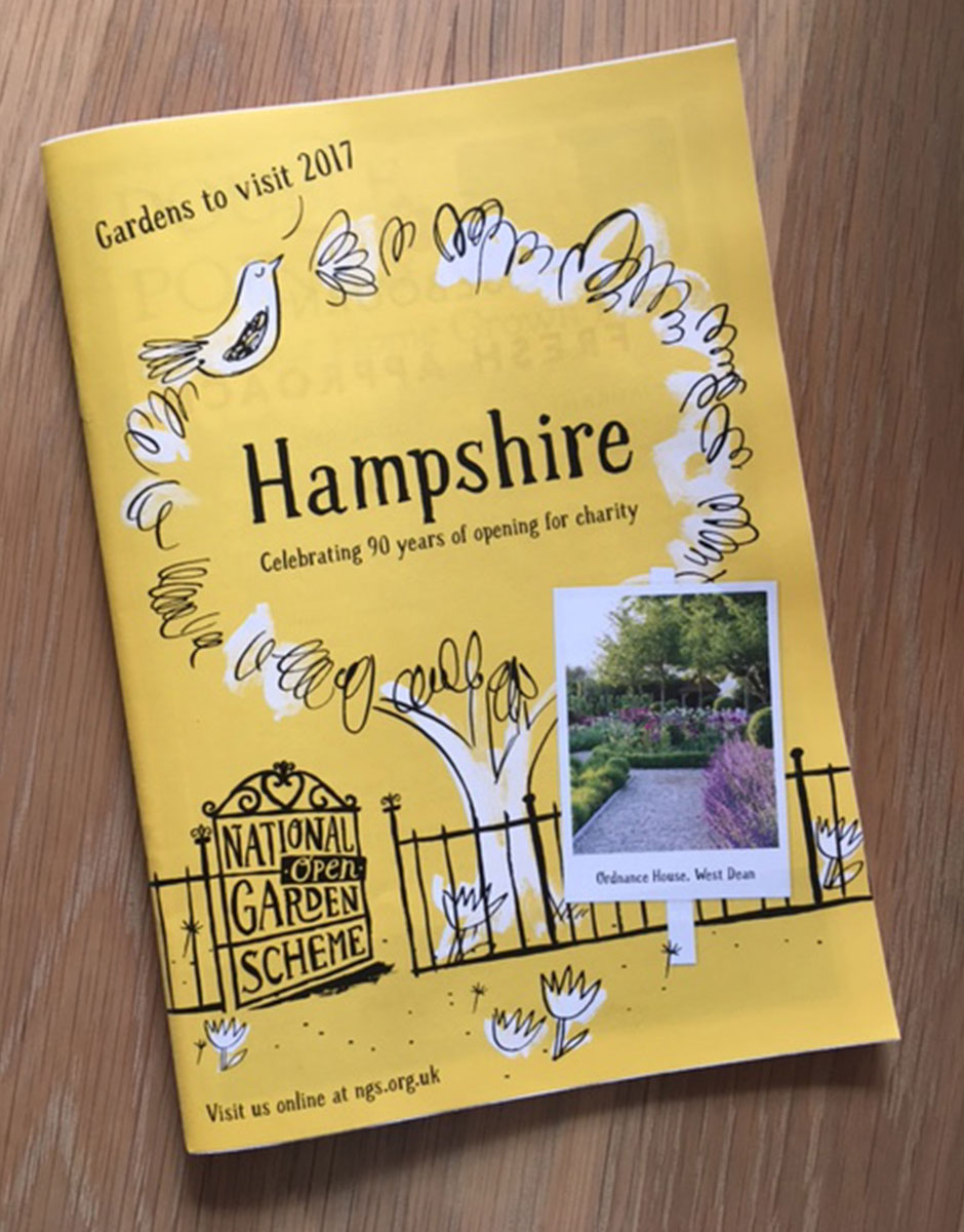 Hampshire National Garden Scheme Booklet 2017 – front cover